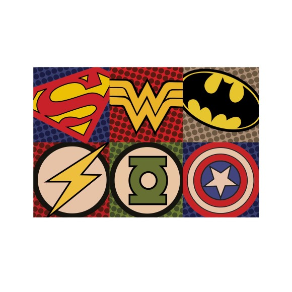 Superhero collage