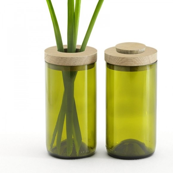 Green vase and jar