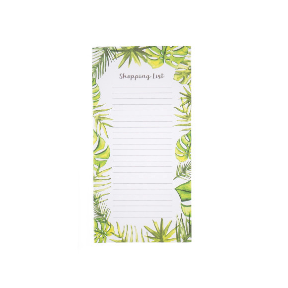 Magnetic tropical shopping list book.