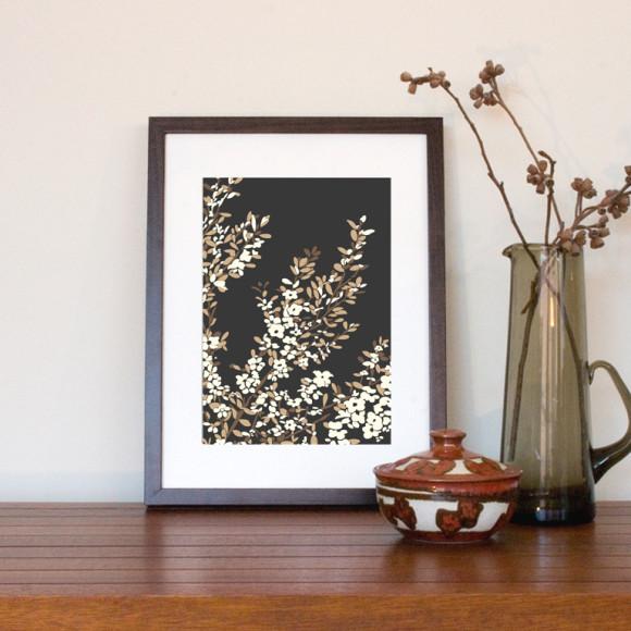 Small framed print