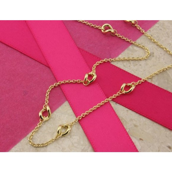 Twisted 9ct Gold Ring Necklace
