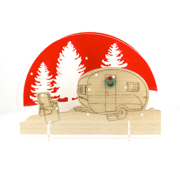 happy camper diorama xmas decoration hardtofind