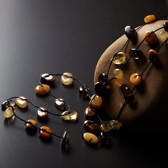 solar plexus crystal chakra necklace
