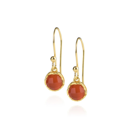 Zefyr Dosha Earrings Gold With Carnelian