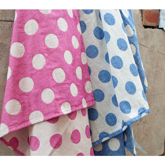Pink & navy spots