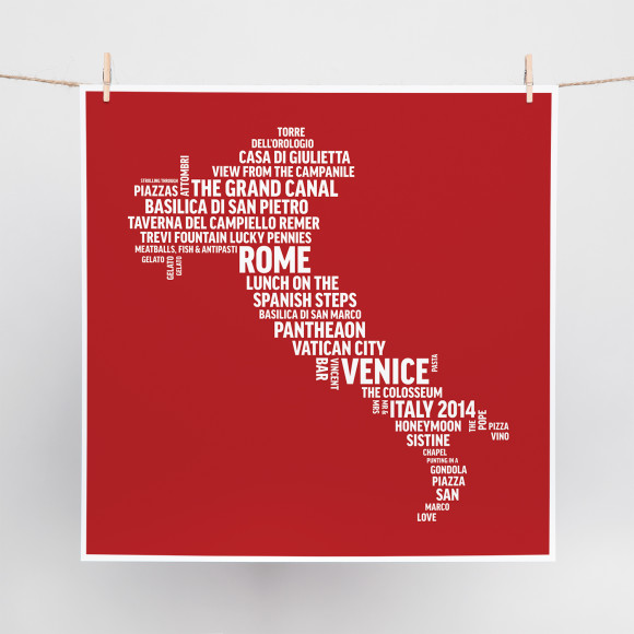 Destination Word Art print