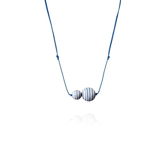 Stripes necklace in blue