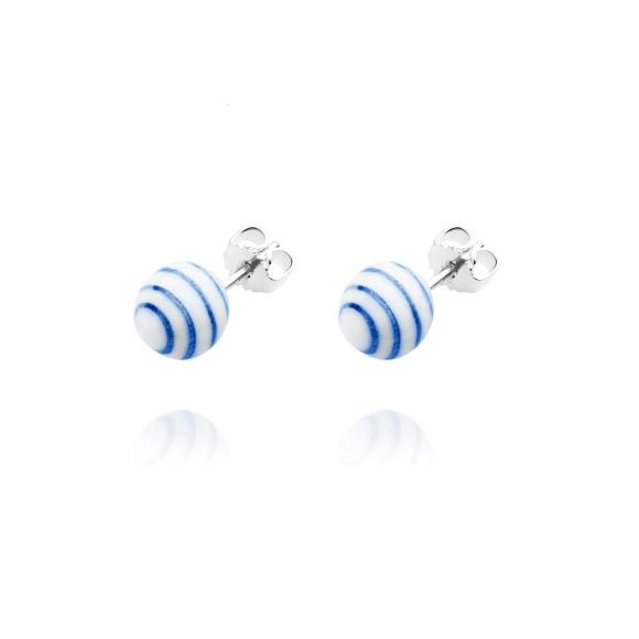 Stripes stud earrings