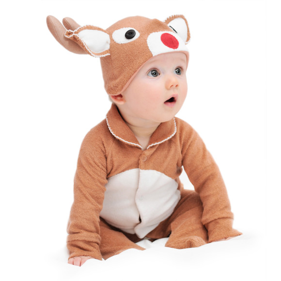 Even if your baby can't run yet - cause they're a baby! - you're still gonna love how much they'll look like a sweet little baby reindeer in this Baby Reindeer Costume! Made of % polyester, this adorable jumpsuit zips in the back and has snap buttons along the leg inseams for easy changing.