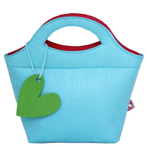 Little Lady Felt Handbag - Blue