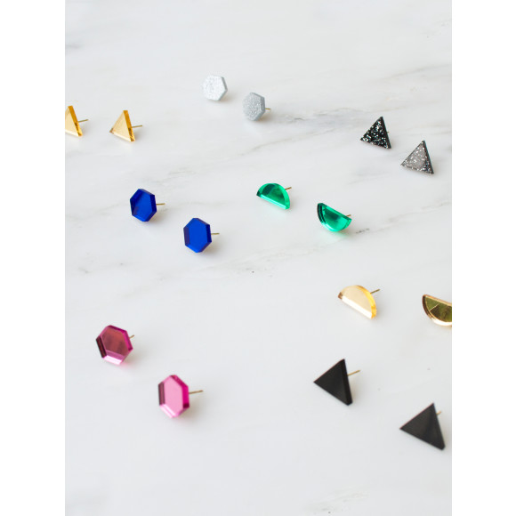 Shape Studs - Set of 3