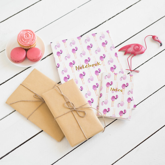 Team our gorgeous A4 Flamingo notebook with our A6 Watermelon/Flamingo combo for the perfect set.