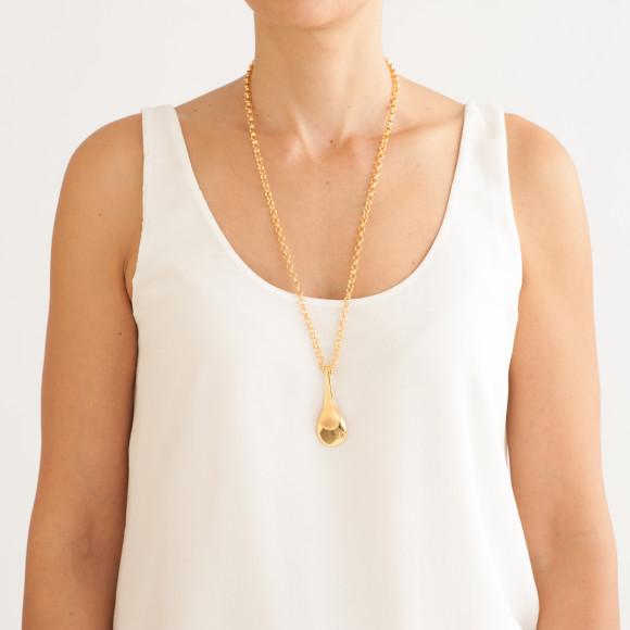 Hissia gold Drops pendant