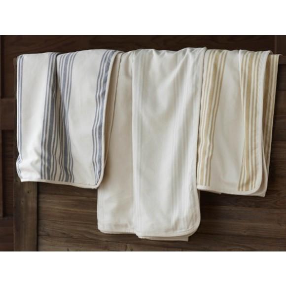 Grey Striped Linen