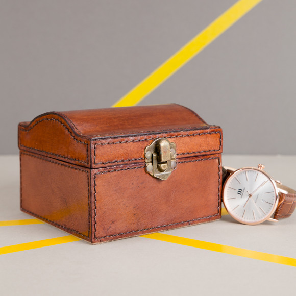 Leather watch box by Ginger Rose