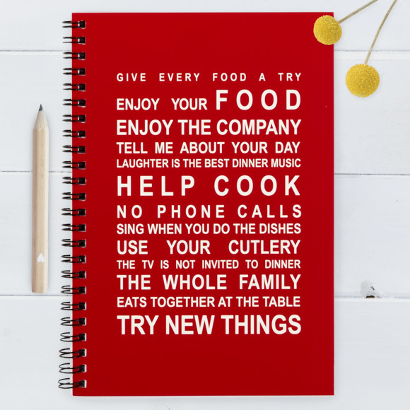 Kitchen Rules - Large Notebook