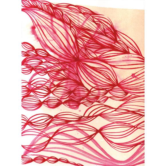 Pink ink swirl