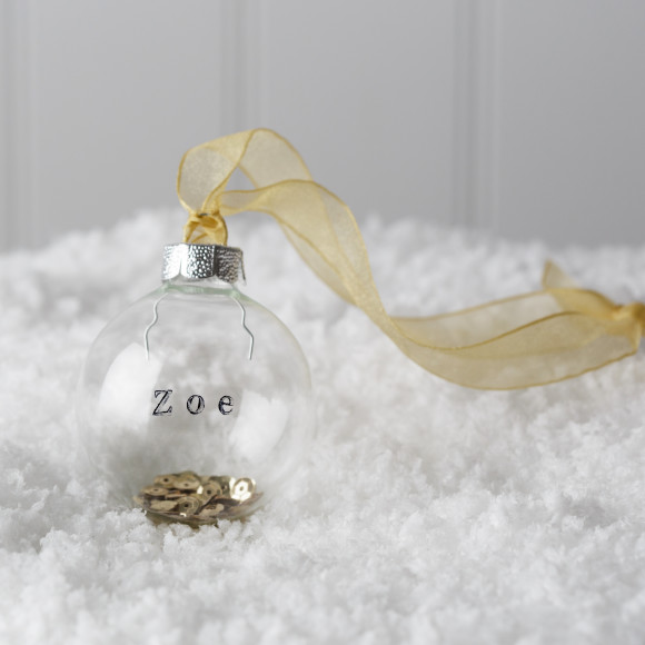 Gold sequin bauble
