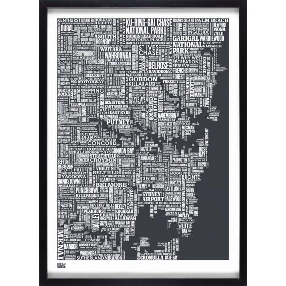 Sydney Type Map