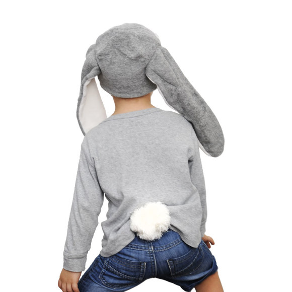 Grey Bunny Hat & Tail