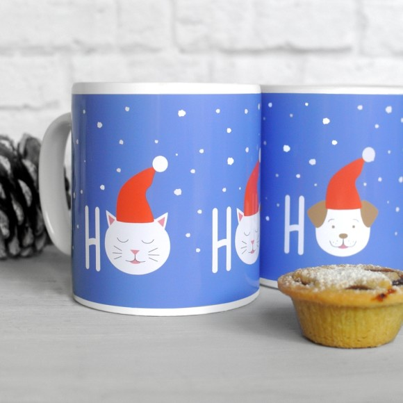 Fido and Frida HO HO HO mugs