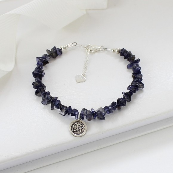 Virgo: August 23-Sept. 22, sapphire blue iolite 5mm