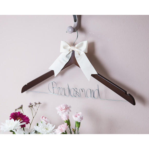 Bridesmaid Hanger Ivory Bow