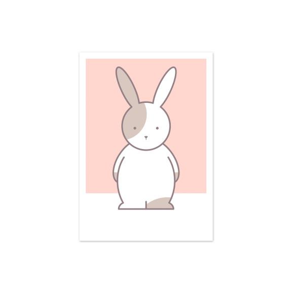 Olivia Print Rabbit Nursery Art Print