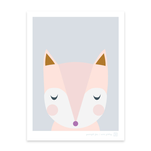 Goodnight Fox Art Print