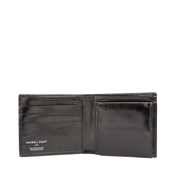 Mens leather wallet in black