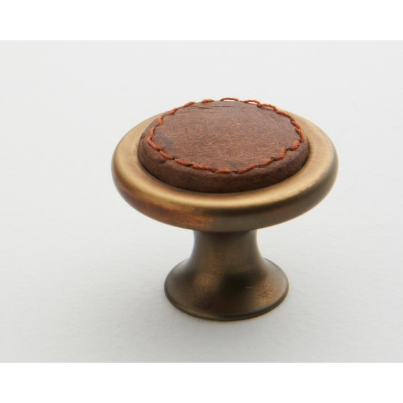 Tan Leather Knob