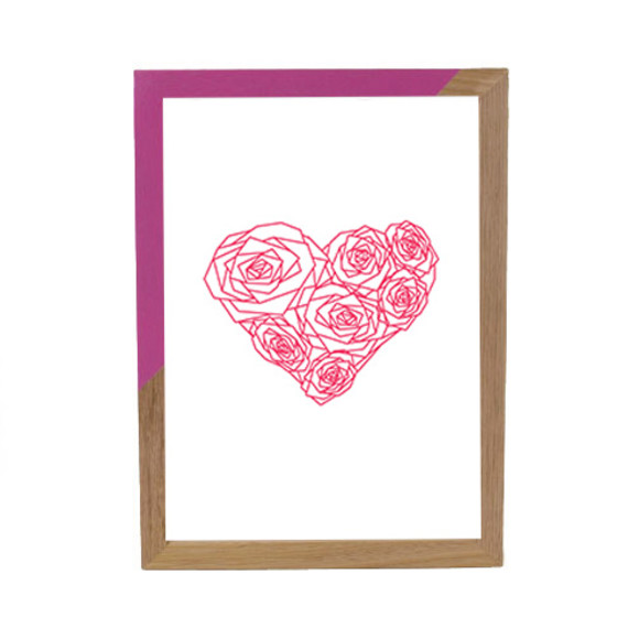 Pink heart of roses - Pink ZAP
