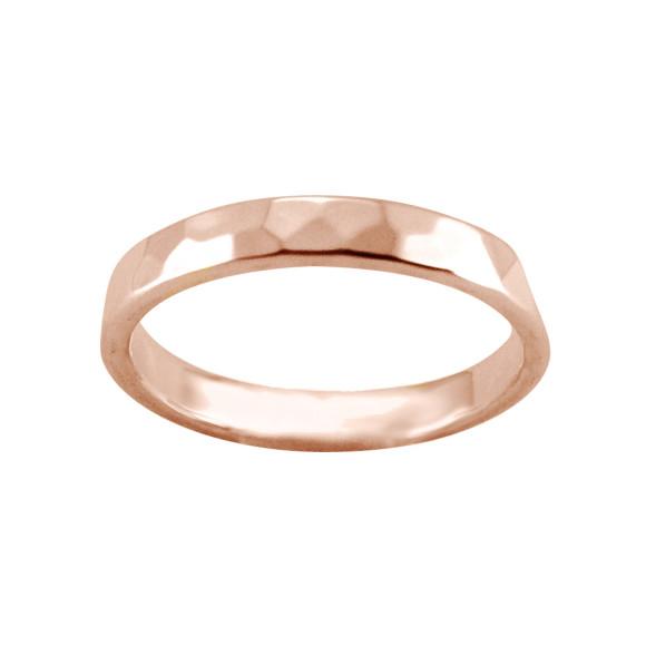 hammered ring rose gold