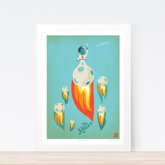Racer Meteoric Art Print (Framed)