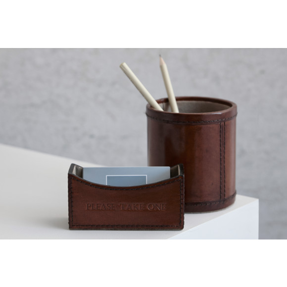 Business card holder and available matching pen pot