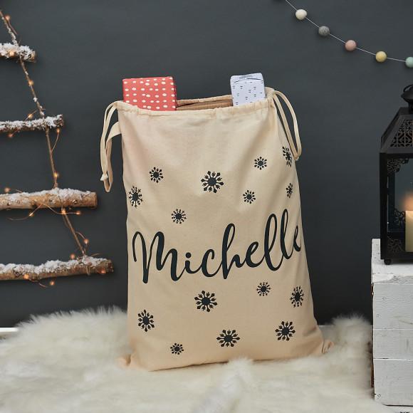 Personalised Christmas Snowflake Sack