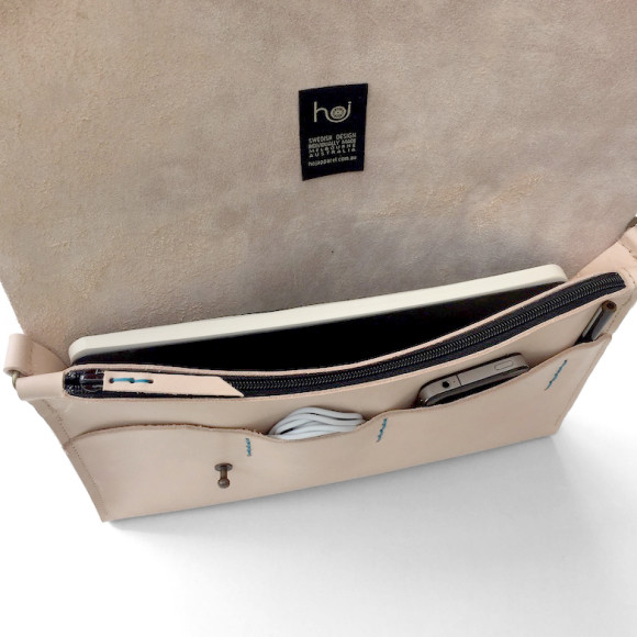Interior pocket and zipped ipad/passport pocket