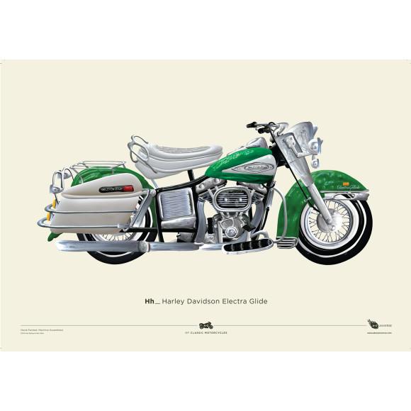 +Free A2 Harley Electra Glide Print