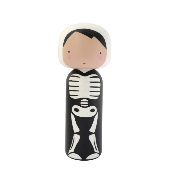 Skeleton Kokeshi Doll