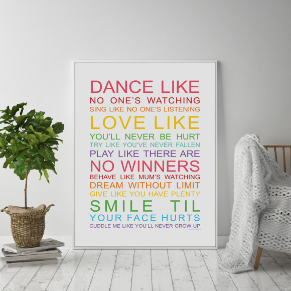 Family Wishes Print in Rainbow