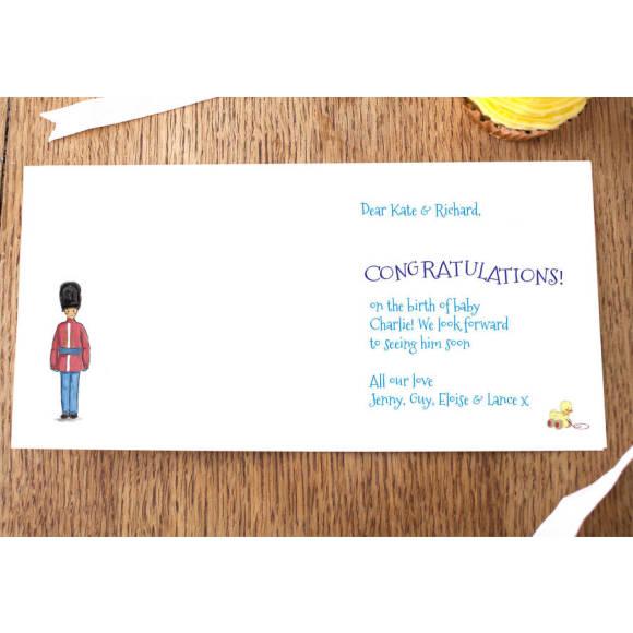 Boys card inlay