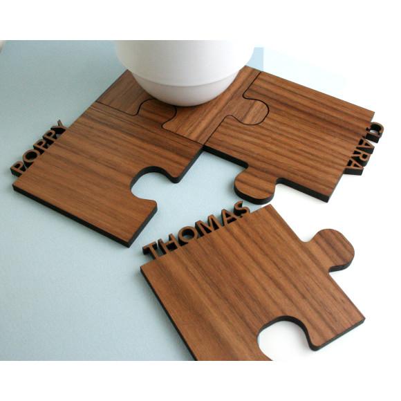 walnut wood coasters