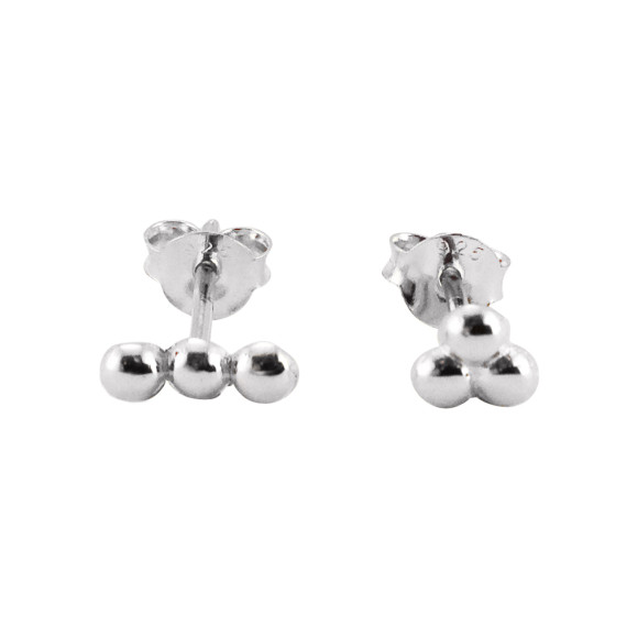 mismatched dots stud earrings sterling silver