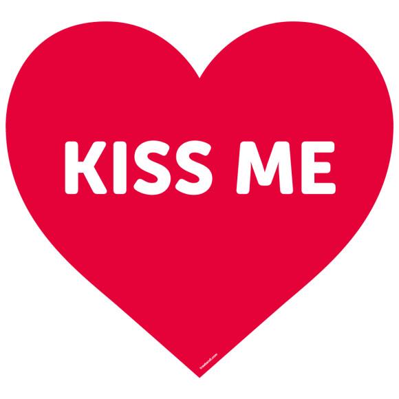 Kiss me decal