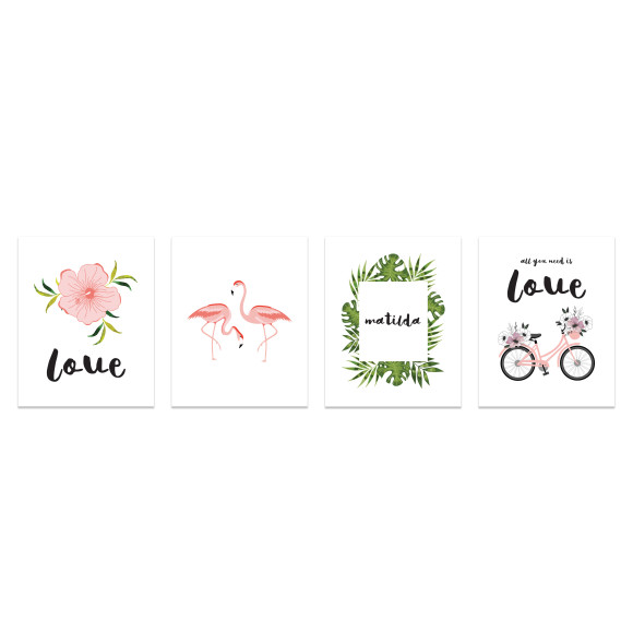 Tropical Series (Set of 4)