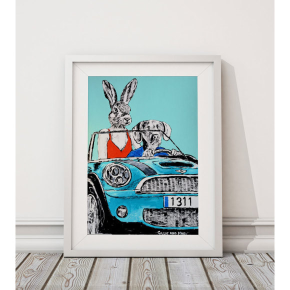 Mini car art print