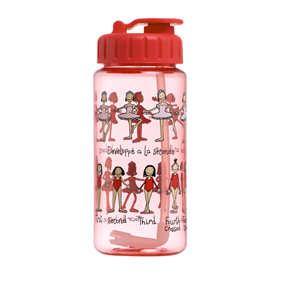 Ballet drink bottle with straw