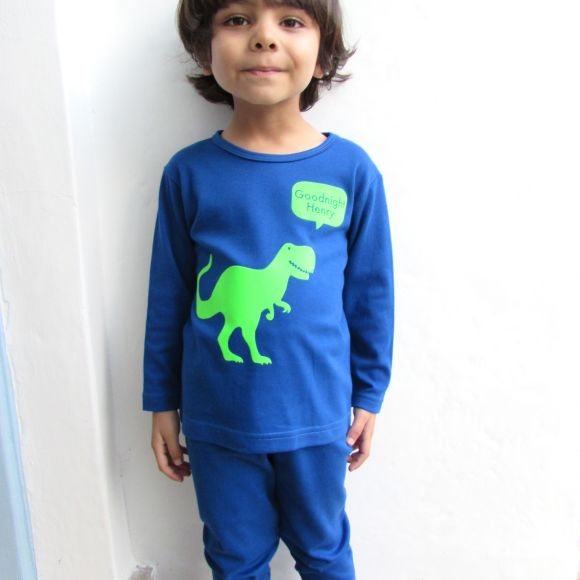 personalised t rex pyjamas