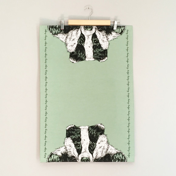 badger tea towel