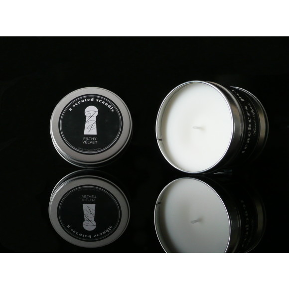 Teachers Pet scented candle side shot